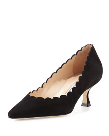 Srilasca Scalloped Suede 50mm Pump