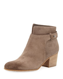 Harriet Suede Ankle Boot, Limestone