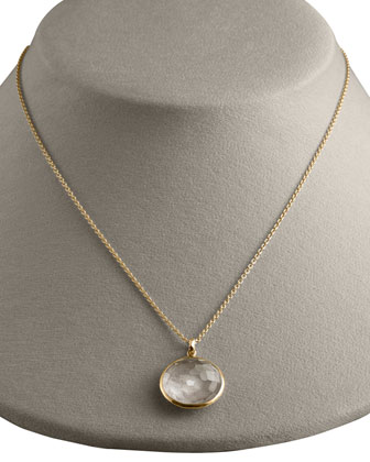 Quartz Lollipop-Pendant Necklace