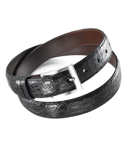 W.Kleinberg Matte Alligator Belt