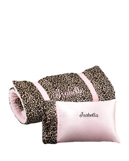 Swankie Blankie Cheetah-Printed Nap Mat & Pillow