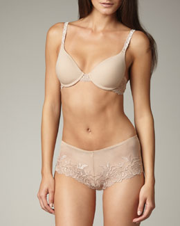 Wacoal A Rose is a Rose Underwire Bra & Boyshorts