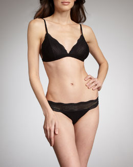 Cosabella Dolce Vita Soft Bra & Low-Rise Bikini Briefs, Black