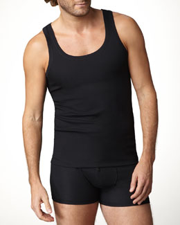 Hanro Authentic Ribbed Tank & Boxer Briefs