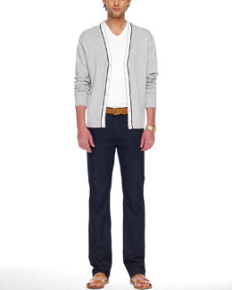 Michael Kors  Tipped Cardigan, Liquid Jersey Tee & Modern-Fit Stretch Jeans