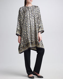 eskandar Lattice-Print Silk Shirt & Narrow Trousers