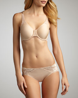 Wacoal Inspiration Full-Coverage Underwire Bra & High-Cut Briefs