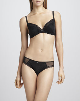 Chantelle C Chic Plunge Underwire Bra & V-Cut Panties