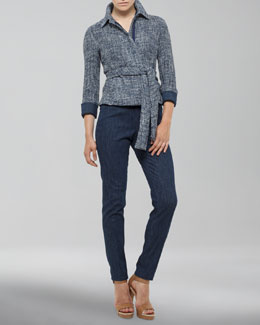 Akris Zip Jacket with Bracelet Sleeves & Melissa Side-Zip Pants