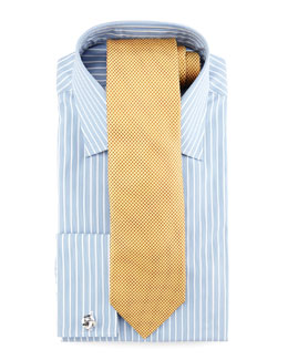 Charvet Striped French-Cuff Dress Shirt & Silk Dots Tie