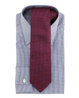 Charvet Micro-Check Dress Shirt & Mini-Neat Tie