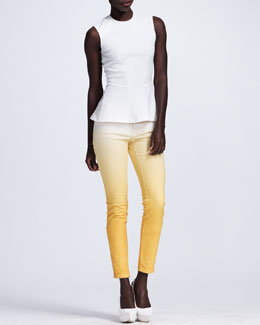Stella McCartney Contour-Seamed Sleeveless Top & Ombre Skinny Jeans