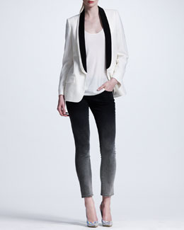 Stella McCartney Triple-Lapel Tuxedo Jacket & Ombre Skinny Jeans