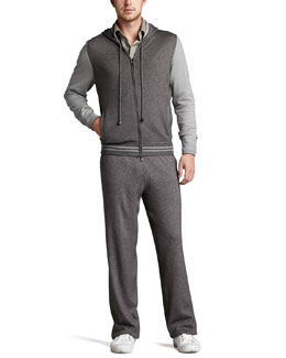 Loro Piana Portland Colorblock Zip Hoodie, Long-Sleeve Pique Polo & Portland Track Pants