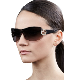 Gucci Interlocking GG Shield Sunglasses
