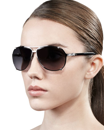Chicago Crystal Aviator Sunglasses