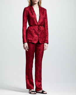 THE ROW Printed Gazar Jacket & Tuxedo Pants