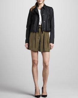 Theory Monrovia Jacket, Saleya Tank Top & DNS Shorts with Cuffs