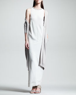 Brunello Cucinelli Long Paillette Duster & Bias-Cut Crepe Gown
