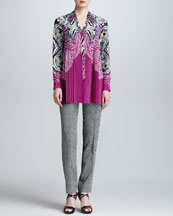 Etro Long-Sleeve Printed Button-Front Blouse & Two-Tone Printed Pants