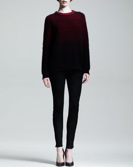 Proenza Schouler Ombre Cashmere Sweater and Stretch Leather Skinny Pants