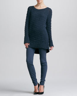 Donna Karan A-Line Sweater & Seamed Leggings