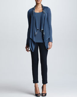 Donna Karan Twisted Double-Layer Cozy, Tank Top & Cuffed High-Waist Trousers