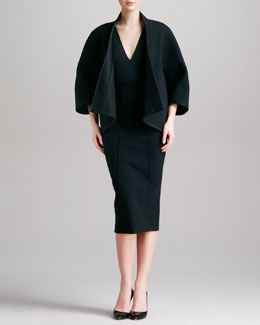 Donna Karan Three-Quarter-Sleeve Kimono Jacket, Sleeveless Stretch Bodysuit & High-Waist Formfitting Midi Skirt
