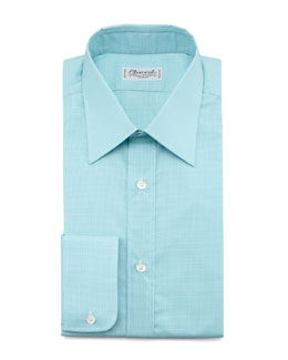 Charvet Check Dress Shirt & Dot-Pattern Silk Tie