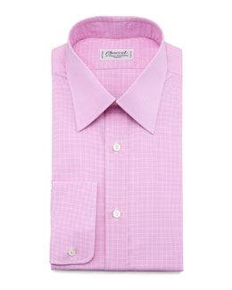 Charvet Check Dress Shirt & Medallion Silk Tie