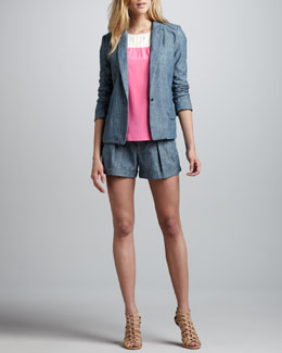 MARC by Marc Jacobs Corey Chambray Blazer, Bowery Tank & Corey Chambray Shorts