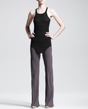 Rick Owens Bias-Cut Crepe Pants and Basic Ribbed Tank
