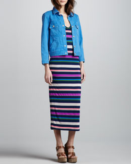 MARC by Marc Jacobs Smash Striped Maxi Dress & Lily Denim Jacket
