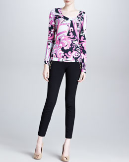 Emilio Pucci Square-Neck Printed Long Top & Ankle-Length Leggings