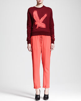 Stella McCartney Quilted Kestrel Sweatshirt & Zip-Pocket Drawstring Pants