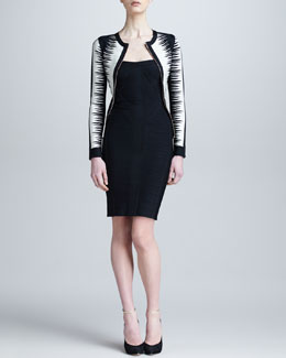 Herve Leger Front-Zip Bandage Jacket & Strapless Bandage Dress