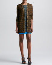 Missoni Houndstooth-Trim Macrame Cardigan & Dress