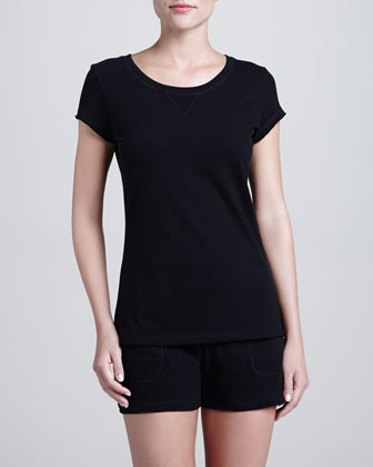 Khloe Cap-Sleeve Top & Drawstring Shorts