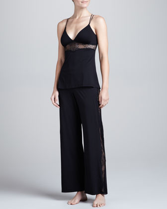 Ace of Hearts Lace-Inset Camisole & Lounge Pants