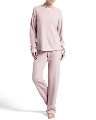 Ella Shimmer Fleece Top & Fold-Over Pants