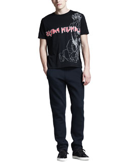 Lanvin Logo Monster T-Shirt & Jersey Sweatpants