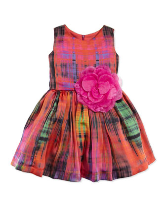 Pebble Rebel Tartan Fit-And-Flare Dress, Sizes 12-24 Months