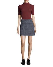 Kerash Textured Knit Skirt