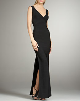 Herve Leger Sleeveless Bandage Gown