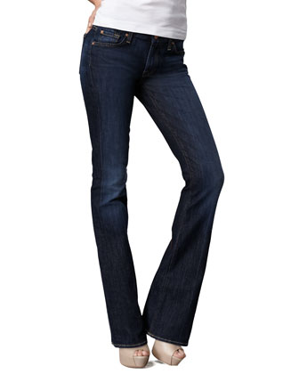 Kimmie Midnight NY Dark Curvy Boot-Cut Jeans