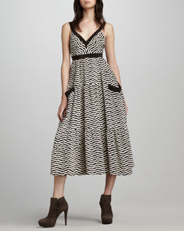 MARC by Marc Jacobs Zora Striped Midi Dress