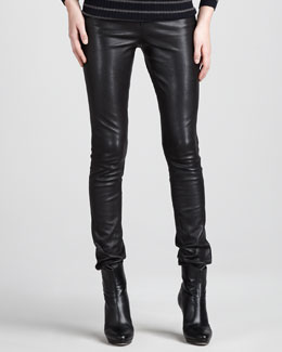 Vince Motocross Leather Jeans