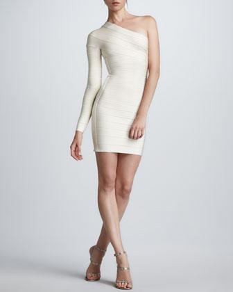 One-Sleeve Bandage Dress