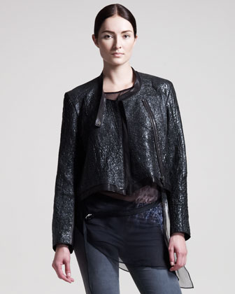 Crystal Leather Jacket