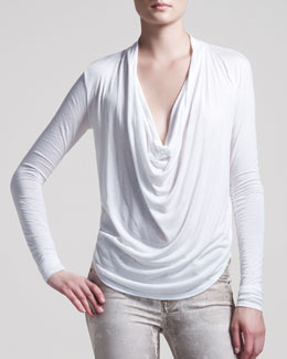 HELMUT Helmut Lang Kinetic Jersey Draped Top
